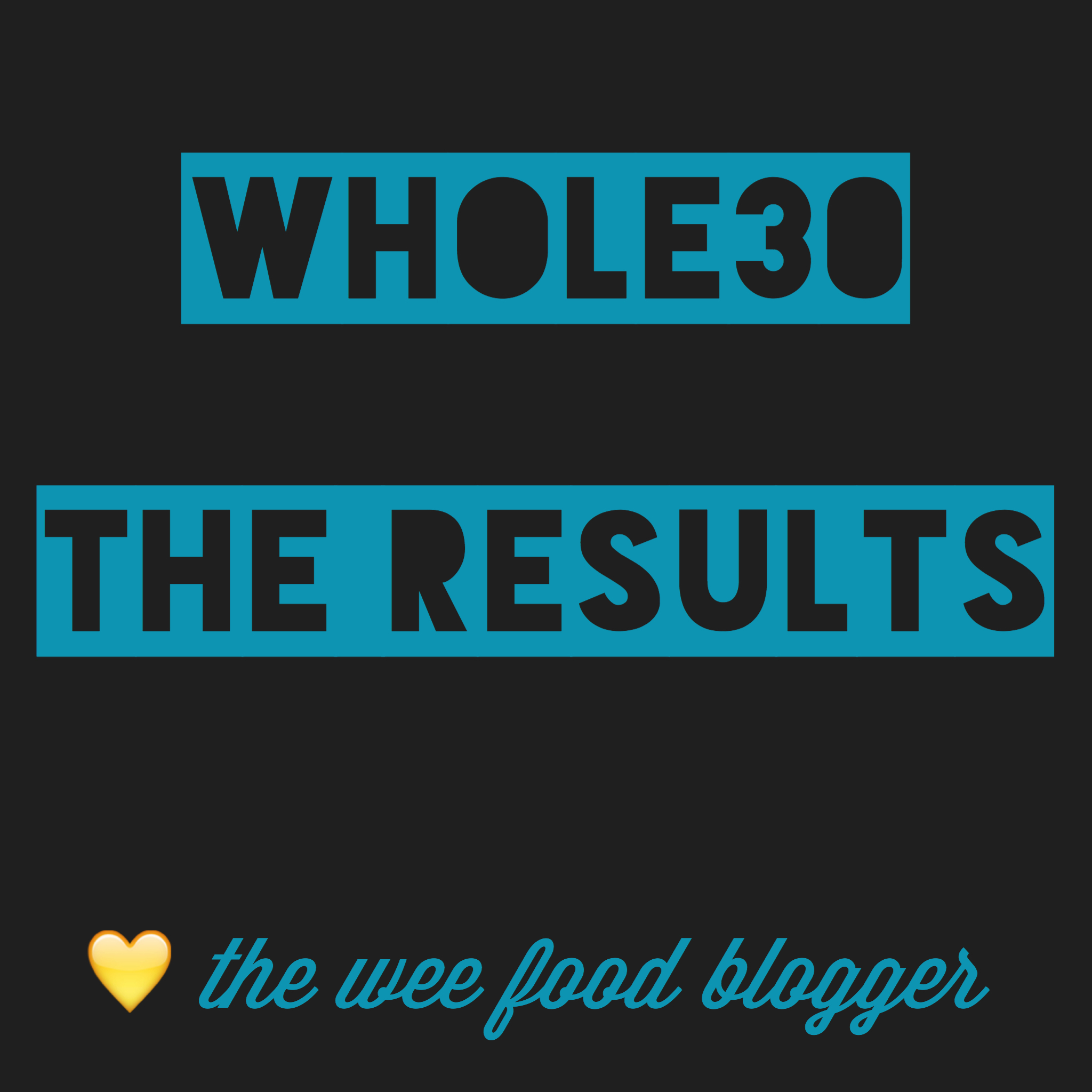 the wee food blogger© Whole30 results
